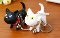 FreeShipping!Grosir  1pcs Ulang Tahun Hadiah Lover 2014 Pasanban gantungan Cat Keychain