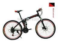 Double disc brake folding bike folding bicycles, 26 inch 21 speed double suspension bike