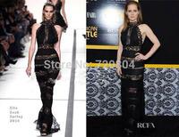 2015 New arrival Women's black long maxi lace Bandage Dress HL Evening porm Dresses HL