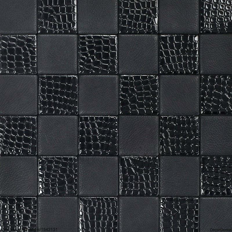 Living room black leather backsplash tile high quality home skin font b pattern b font font