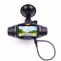 "270 Degree Dual lens GPS vehicle Car DVR Camera Video Recorder 2.7"" LCD Dash Cam G-sensor"