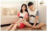 Pyjamas summer short-sleeved pajamas couple piece fitted cartoon