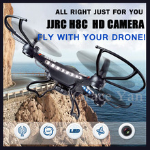 NEW 2015 RC Drones Helicopter Quadrocopter With 2MP HD Camera Electric LED Plane Aerial Apparatus Jjrc H8c 2.4G 4CH 6 Axis Gyro(China (Mainland))