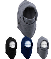 New 2014 Thermal Fleece 6 in 1 Motorcycle Balaclava Hood Police Bike Wind Face Cap Swat CS Ski Stopper Mask Hat