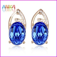 2014 Drop Crystal Earrings For Women Free Shipping Wholesale Crystal Made With Genuine Swarovski Elements #111548