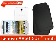 Original Lenovo A850 Plus A850+ 5.5 Inch MTK6592 Octa Core microfiber Leather Case cover,lenovo a850+ phone bags & cases