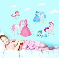Wholesale children's room wall stickers living room sofa backdrop wall stickers JM8362 fashion cartoon princess Barbie