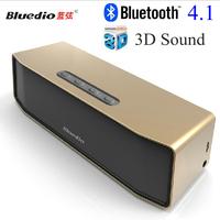 Bluedio Mini Bluetooth Speaker Dual Bass Speakers Built-in mic Ture 3D Surround Subwoofer Stereo HIFI Home Theatre Speaker