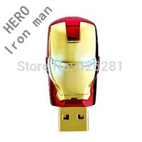 New Hero Iron man Metal plastic Usb flash drive Pen drive Usb memory stick Usb disk Custom logo USB2.0 1GB 2GB 4GB 8GB 16GB 32GB