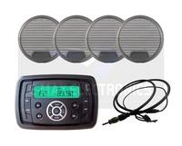 Waterproof Marine Stereo FM AM MP3 Radio Audio Receiver Sound System With Bluetooth Function+3 inch marine Speaker+Radio Antenna