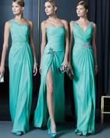 Quality toadyisms double-shoulder fashion formal dress long design bridesmaid dress slim evening dress evening dress female