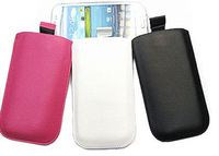 2015 new bulk Pull Up Tab Strap Bag For HTC one 802w PU Lichee Leather Pouch bags Cell Phone Cases Black Pink White