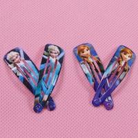 50Pcs!Frozen Anna Elsa hairpin Baby girls headdress Children Girls Clip Hair Accessories Kids Hairpin Frozen Princess Hair Clips