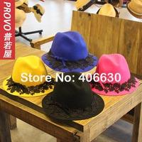 2014 winter new wool felt fedora hats for women, ladies chapeau hats, vintage wool hat, free shipping
