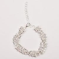 2014 Gold/Silver Korean Brand Design Fashion Romantic Elegant Delicate Shining Square Rhinestone Bracelet Statement Jewelry PT36