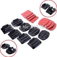 free shippingGopro Accessories 2PCS Flat Adhesive Mount + 2PCS Curved Adhesive Mounts Replacment Kit For Go Pro Hero 2 3 Black E