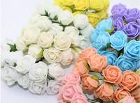 Hot Sale!free shipping  Multicolor PE rose foam mini flower Bouquet solid color/Scrapbooking artificial rose flowers(144pcs/lot)