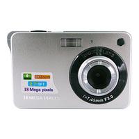 "Max. 18mp digital camera 2.7"" tft lcd 3mp cmos sensor 4x digital zoom Li-Ion battery 3.7V  Free shipping"