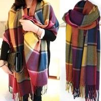 Warmer Winter Fashion Pashmina Scarf Style Wool Women Girl's Shawl Wrap Stole Lady Neckerchief S01004