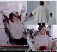 2015 804 FIRS turtleneck fifth sleeve cloak cape sweater outerwear women dress