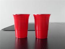 O envio gratuito de 2014 descartável plástico vermelho beer pong jogo copo 20 pcs(China (Mainland))