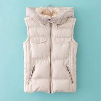 England style New autumn winter 2015 hot sale high quality down vest jacket,Slim all-match snow warm girls outwear coats S-XXL