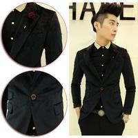 2014 Autumn New Arrival Men velveteen Casual Suit Jackets Work Party Blazer Male Business Coat