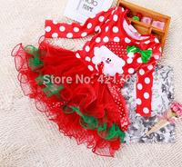 Free shipping 1 piece girls Autumn winter Christmas dot long bitter fleabane bitter fleabane skirt