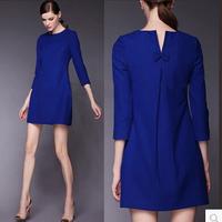 Women's Stylish 3/4 Sleeve Fashion Dress, High-end Temperament Ladies' Party Dresses Novelty Dresses