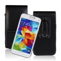 New Arrival Mobile Phone Case Belt Clip Holster PU Leather Pouch Case For Samsung Galaxy S5 mini G800 Free ship