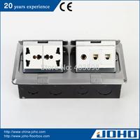DCT-638/LB IP44 Waterproof Aluminum Fast Pop Up Type Network Floor Box