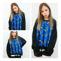 2015 New Fashion Cute Cartoon Bananas Printed Sweatshirt All Match Pullover Tops TNH086