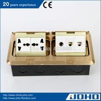 DCT-638/GBD IP44 Waterproof Brass Slow Pop Up Type Floor Socket Box