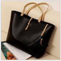 Vintage Simple Women's fashion buckle shoulder big bag Lady Ladies bags vintage women messenger bag shopping handbag Tote