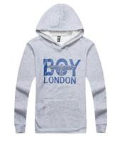 New winter spring Men Boy London Print Letter Fleece Gray hoodies/long sleeve hoodies sport men pullover sweatshirt