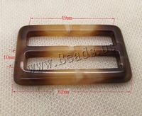 Free Shipping Fashion  Resin Buckle, Rectangle, deep coffee color, 49mm,10mm,62mm, 50PCs/Bag, Sold By Bag