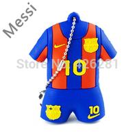 New World Cup fashion Barcelona Messi Soccer PVC Usb flash drive Pen drive Usb memory stick  Usb disk 1GB 2GB 4GB 8GB 16GB 32GB