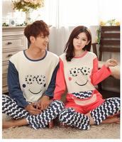 New winter pajamas female cotton long-sleeved tracksuit suit quality men's fashion pajamas cartoon couple