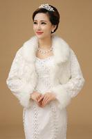 High-grade white wool shawl bride wedding 2014 newest warm and comfortable cloak leopard fur collar jacket