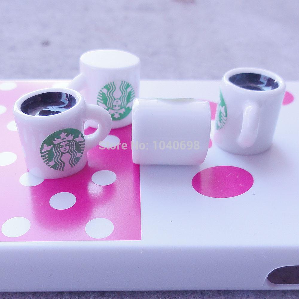 Free shipping Starbucks Coffee Latte espresso 20pcs 12mm flatback resins mixed kawaii cabochon cameo christmas ornament(China (Mainland))