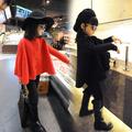 Children's clothing female 2015 all-match yarn shoulder width child cloak baby cardigan kids jackets girls coat children jackets(China (Mainland))