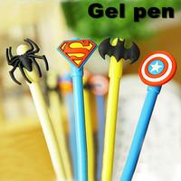 12 pcs/Lot Cute Alliance of Heroes Gel pen zakka Stationery Creative gift Pen For Kids Student School Office supplies material