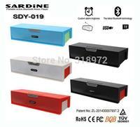 2014 New SDY-019 Original Nizhi HIFI Bluetooth Speaker Sardine FM Radio wireless USB Amplifier Stereo Sound Box with mic 30pcs