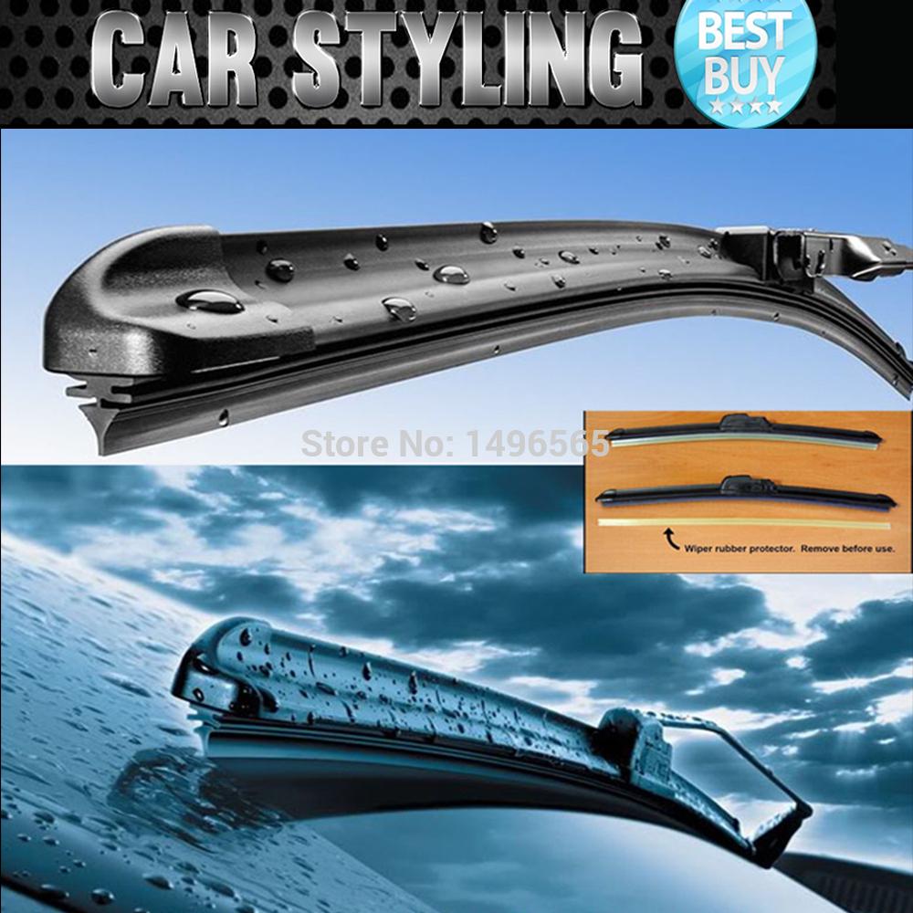"Windshield windsceen wiper blades for Murano(26""+16"") plas year of 2009-2014 OEM Bracketless Frameless U Type wiper car styling(China (Mainland))"