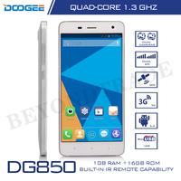 Original Doogee DG850 Mobile Phones MTK6582 Quad Core Cellphone 1G RAM 16G ROM 5''IPS Screen 1080P 13.0MP Camera Android Phones