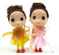 Ddung pendant doll 12pcs 12cm exquisite sweet fairy bead princess girl bag key chain wedding gift children prize wholesale