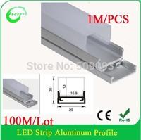 Hanks Led Aluminum Channel Profile for LED Strip Light, PC Cover, Aluminum led bar 100M/Lot