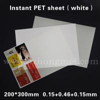 PET card material (white) for inkjet,  200*300. 0.15+0.46+0.15mm