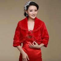 New winter coat bridesmaid dress bride wedding shawl small clothes lace shawl lapel sleeves Shorthair