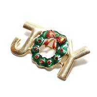 Christmas Gift Christmas Tree JOY Brooch Brooches CY031 MXIUX
